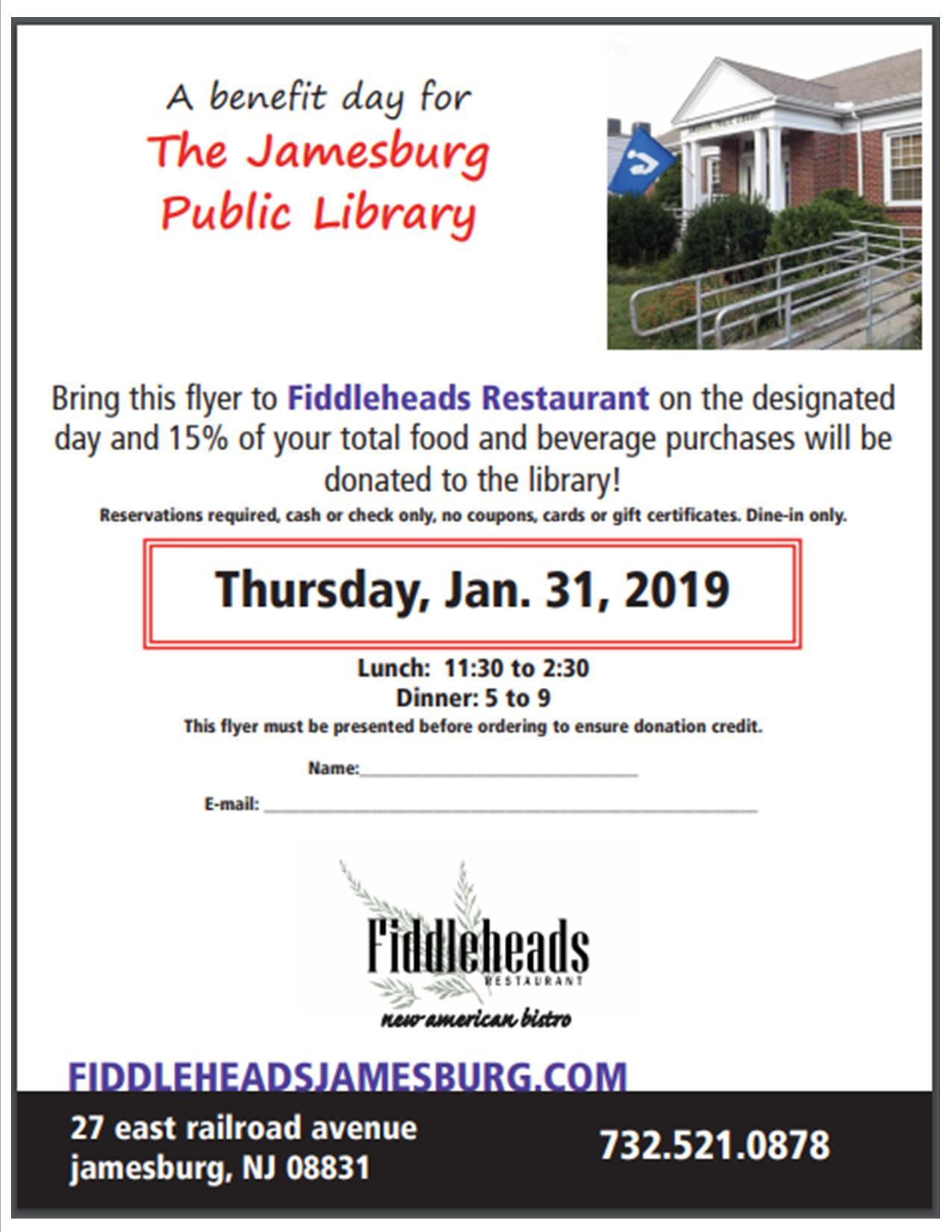 Fiddleheads Fundraiser 2020